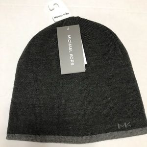 Michael Kors Dark Gray (Ash) Reversible Beanie -OS